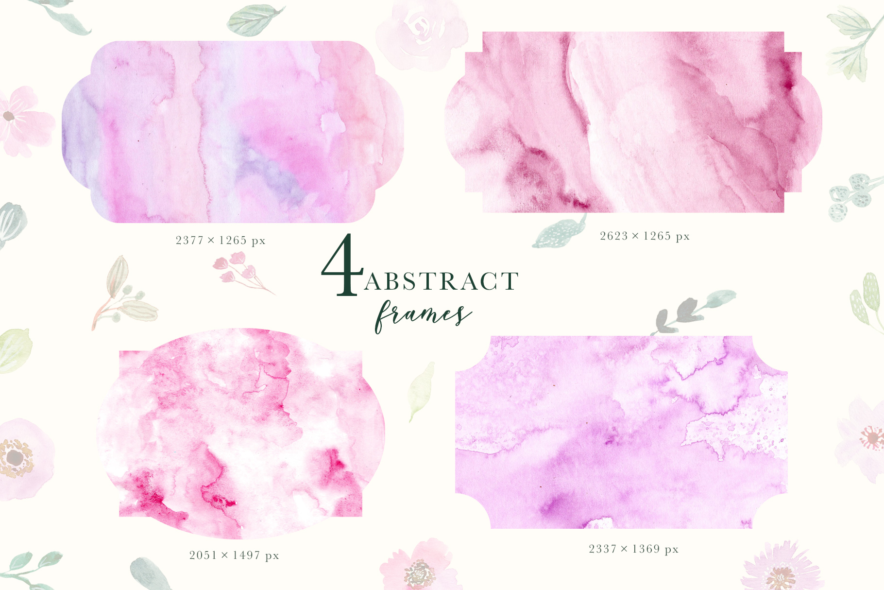 Purple Vibes - Watercolor Clipart example image 5