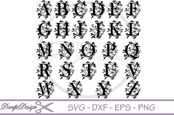 Florisch Monogram Letters SVG example image 2