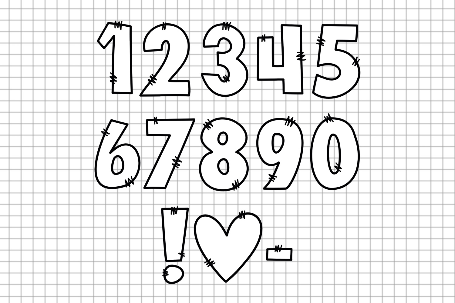 Sketchy Doodle Font example image 3