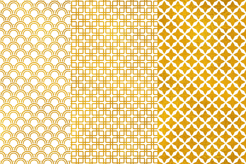 Gold Digital Paper, Gold Geometric Seamless Patterns,Wedding example image 2
