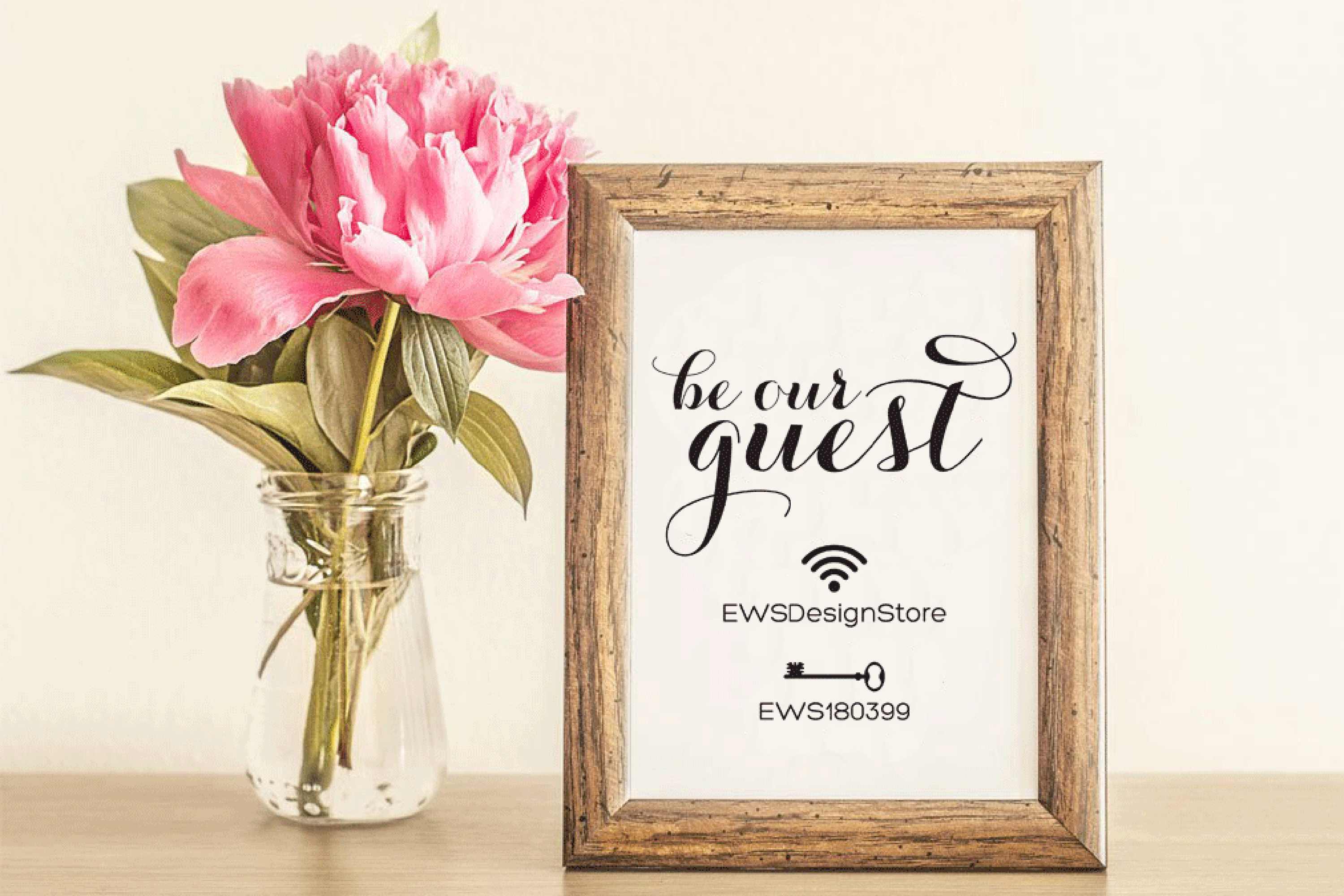 Wifi Password Sign Printable Instant Download, Wifi Sign example image 2