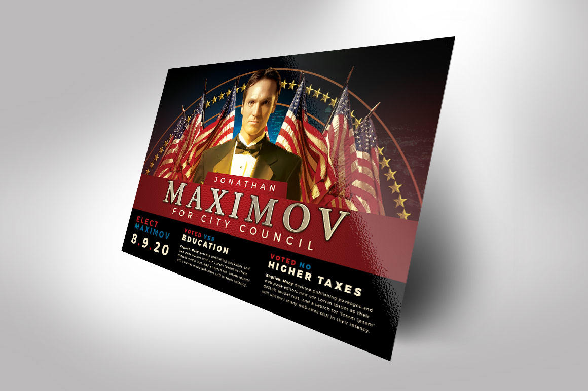 Political Flyer Photoshop Template 2 example image 2