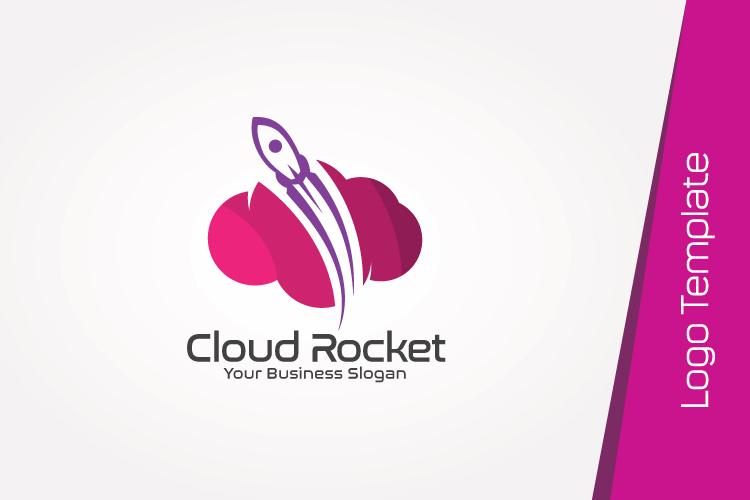 Cloud Rocket Logo Template example image 4