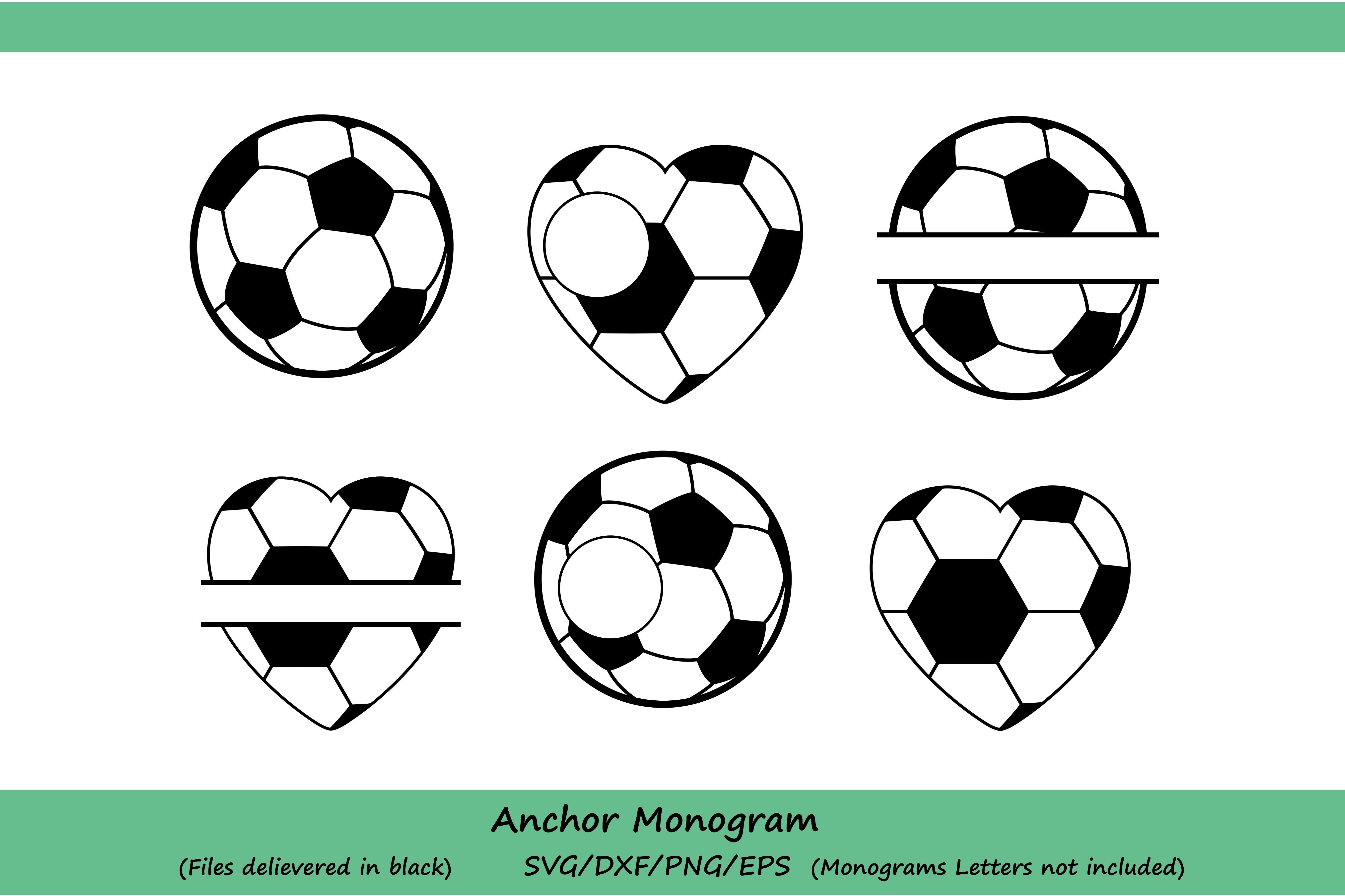 Soccer svg, Soccer Ball Svg, Soccer Monogram Svg, Soccer Mom Svg, Soccer Ball Monogram, Soccer silhouette, Cricut Files, svg, dxf, eps, png. example image 2