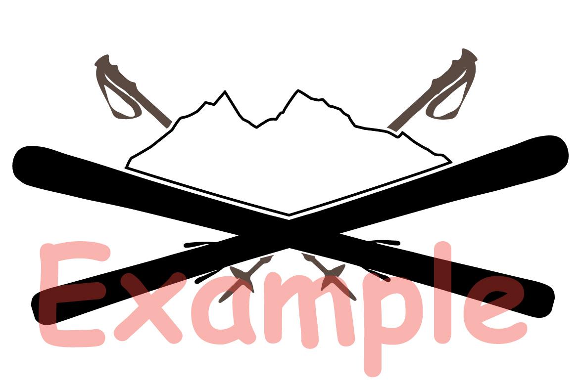 Logo Mountains Ski Side svg Christmas santa 1062s example image 3