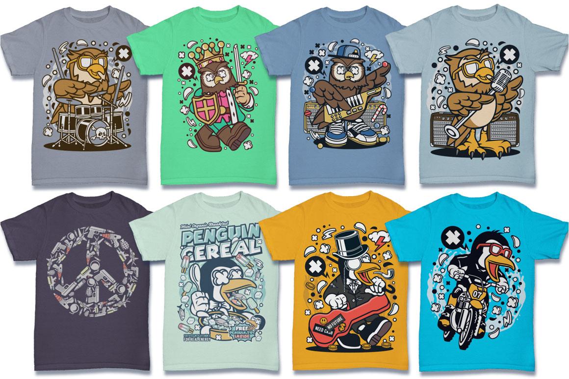 Cartoon Vector #6 Tshirt Design Bundle example image 17