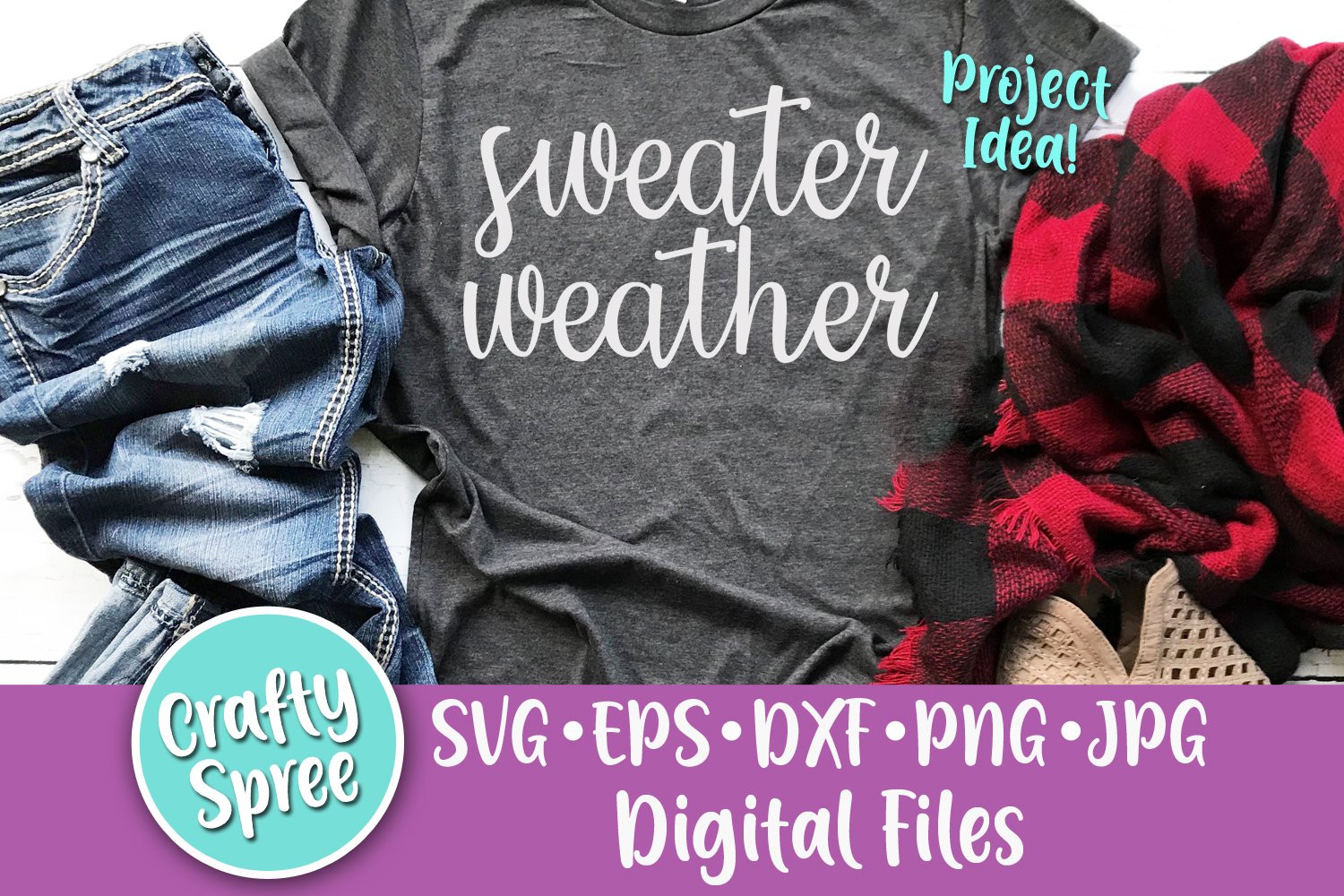 Sweater Weather SVG PNG DXF Cut File Sublimation example image 1