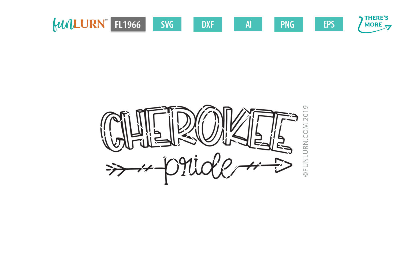 Cherokee Pride Team SVG Cut File example image 2