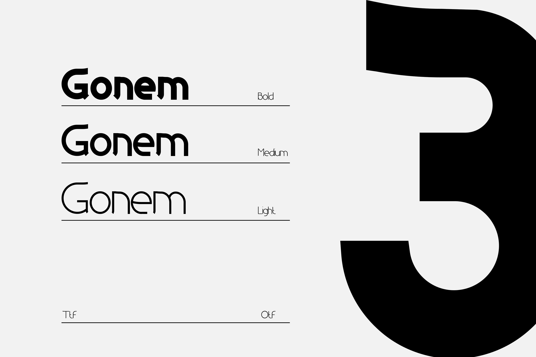 Gonem l Sans Serif Family example image 2