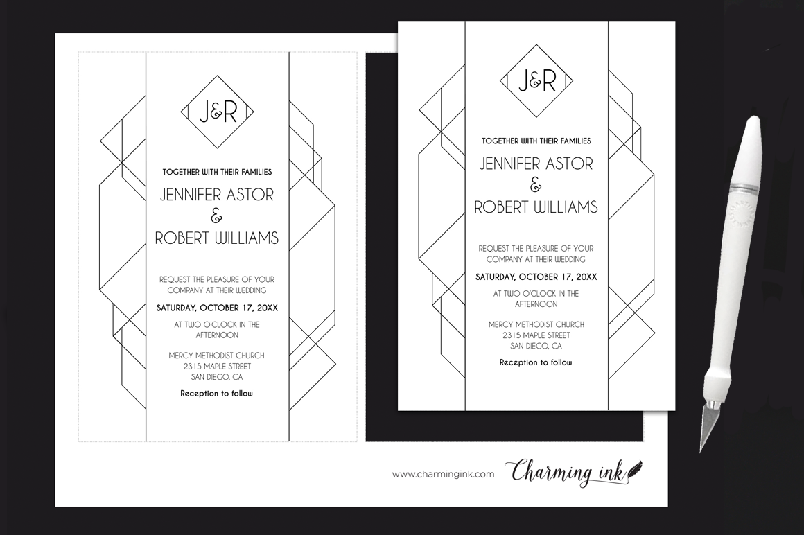 Modern Deco Wedding Suite example image 3