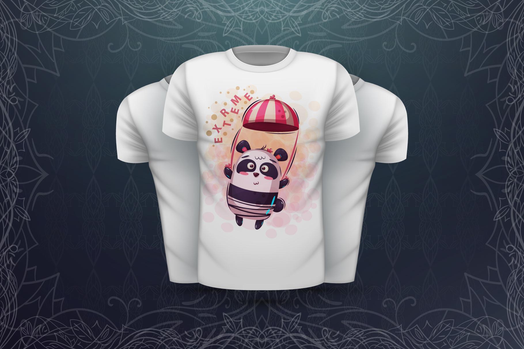 Set cute panda - for print t-shirt example image 7