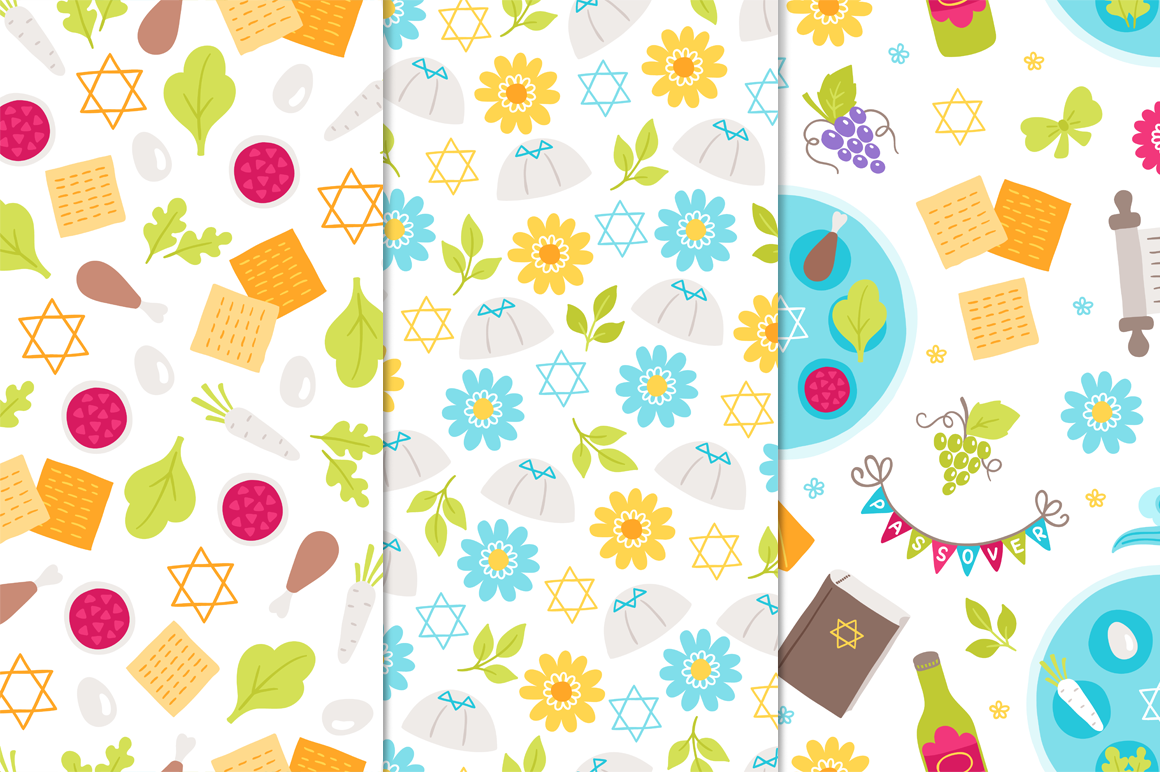 12 Passover Seamless Patterns example image 5