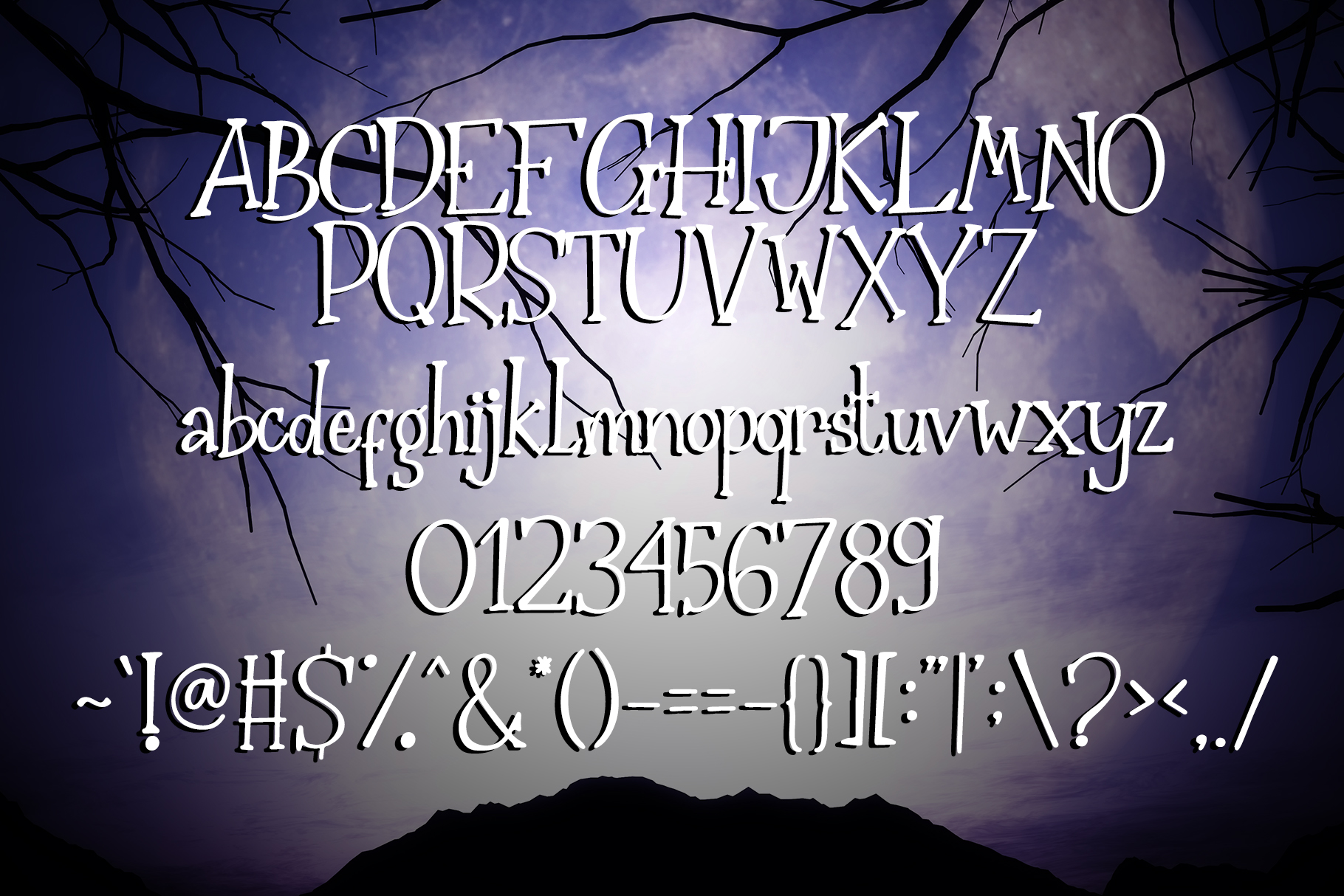 The Nightmare - Creepy Serif Font example image 6