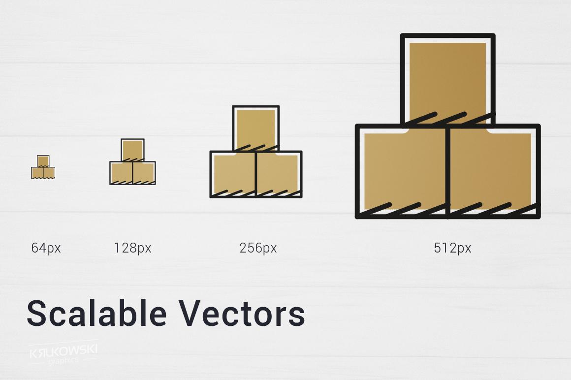 500 Modern Icons Bundle example image 5
