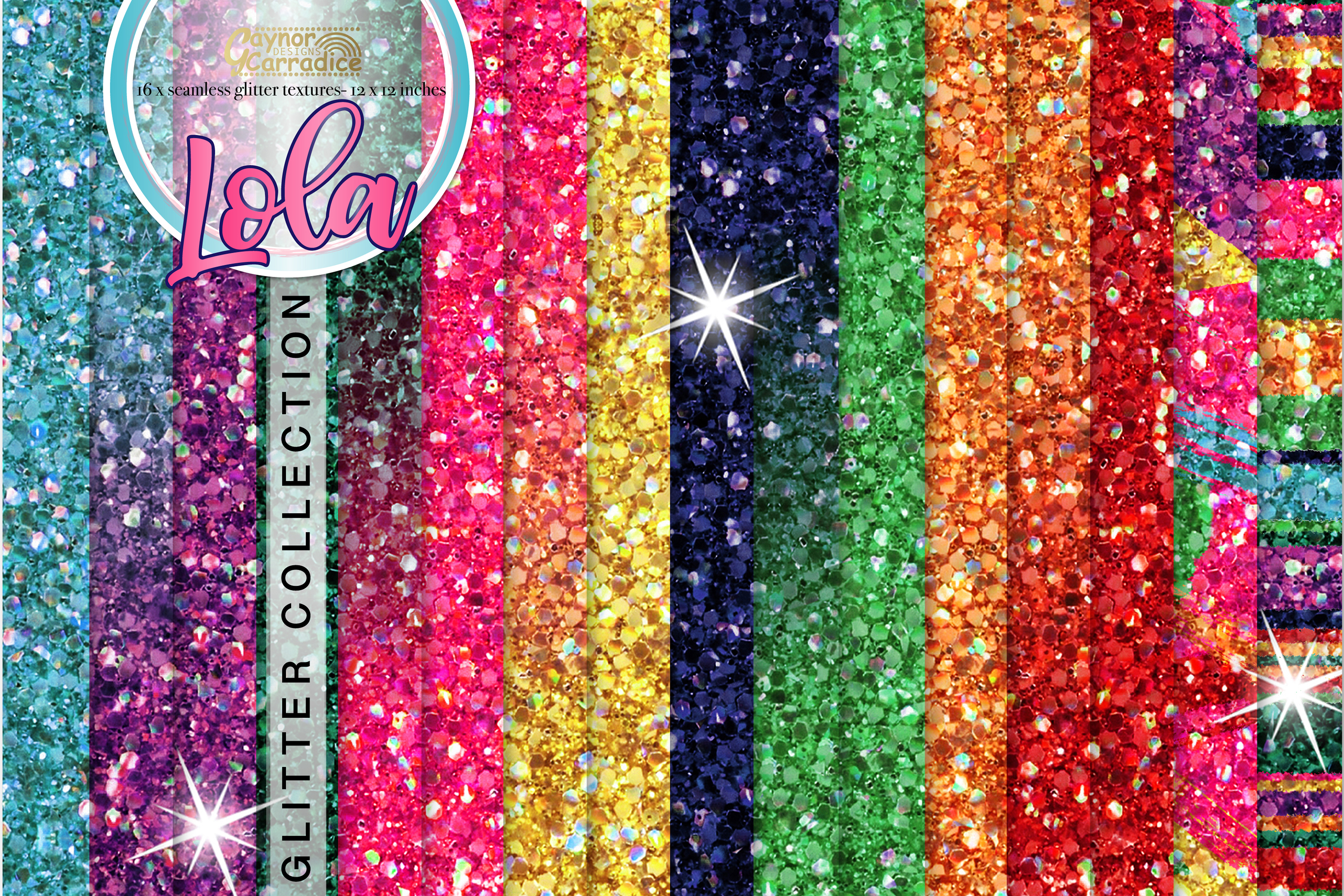 Mexican seamless Glitter backgrounds example image 1