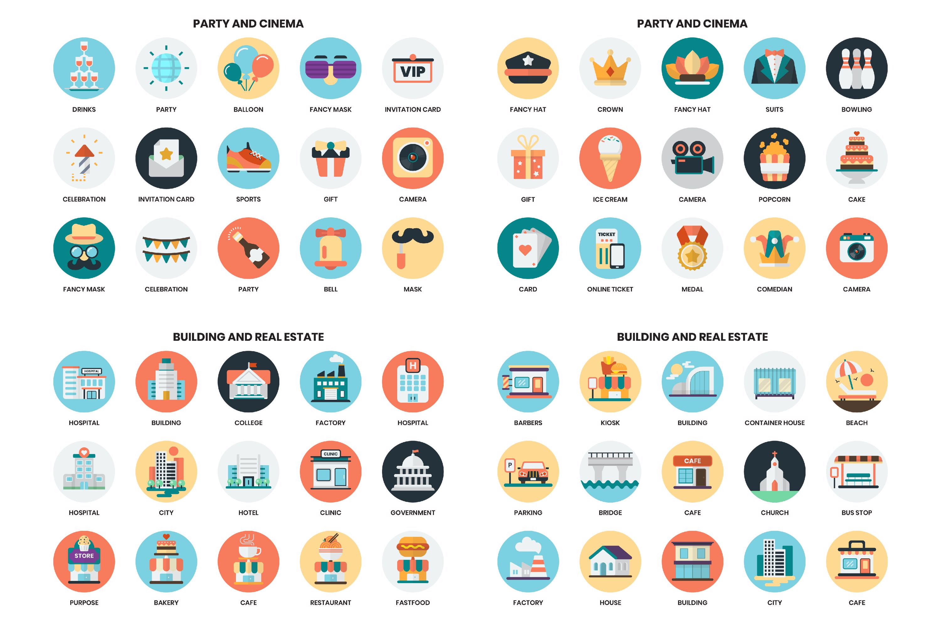 1155 PERFECT ICONS SET example image 18