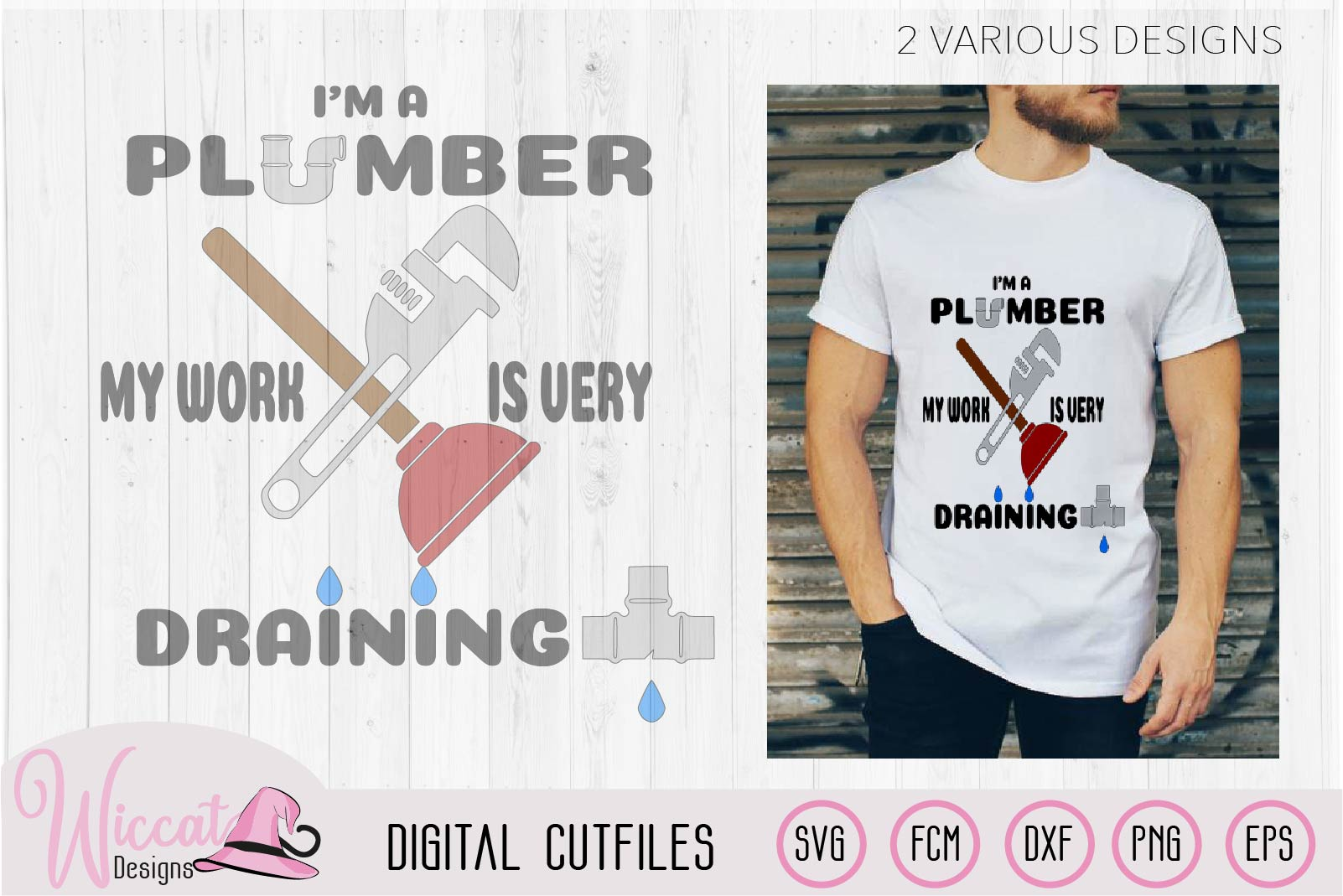 I'm a plumber quote, Plumber pun, plumber tools, man shirt, example image 1