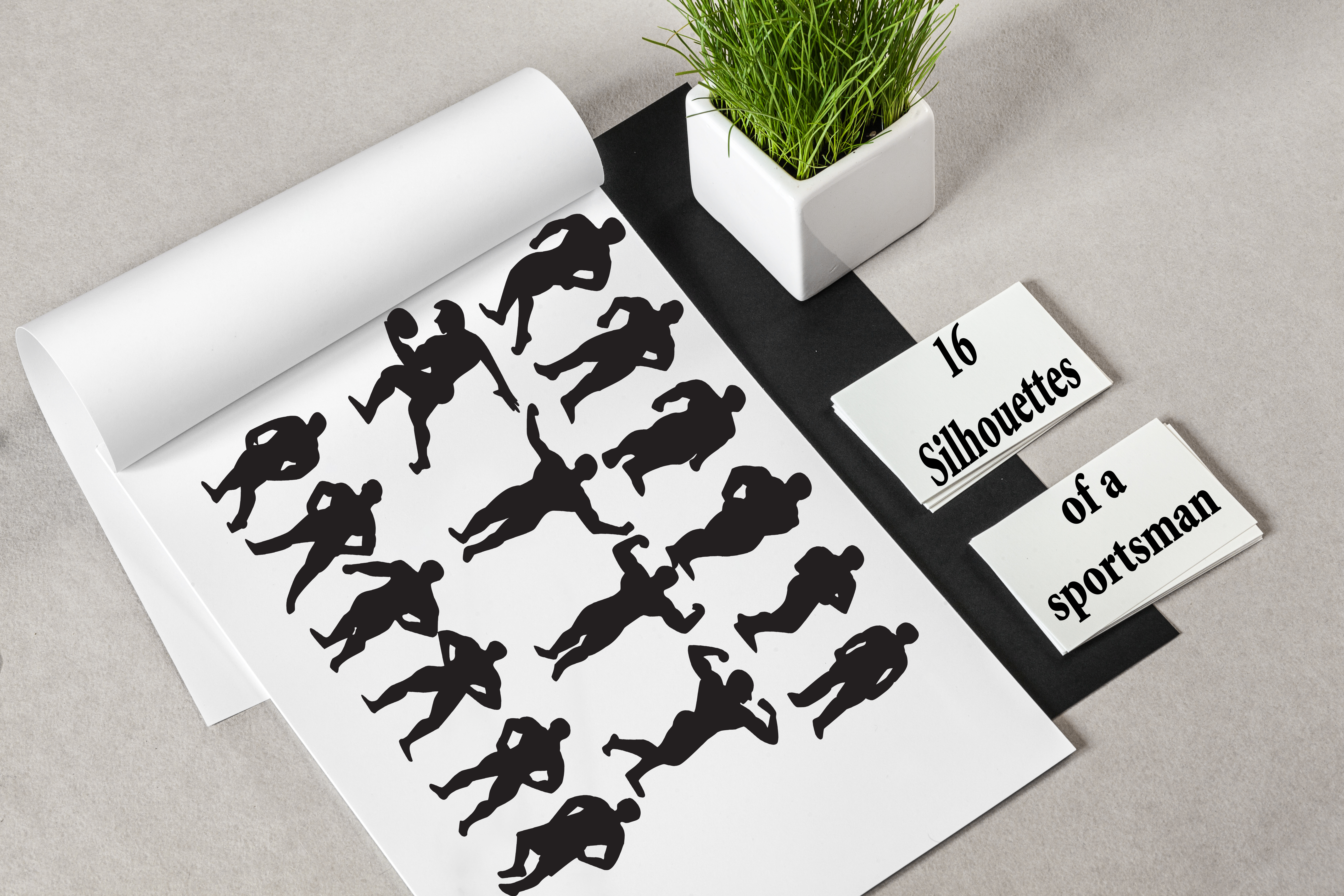 Set of 46 people silhouettes example image 4