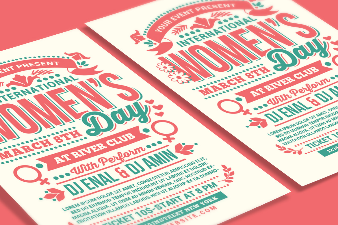 Womens Day International Flyer example image 3