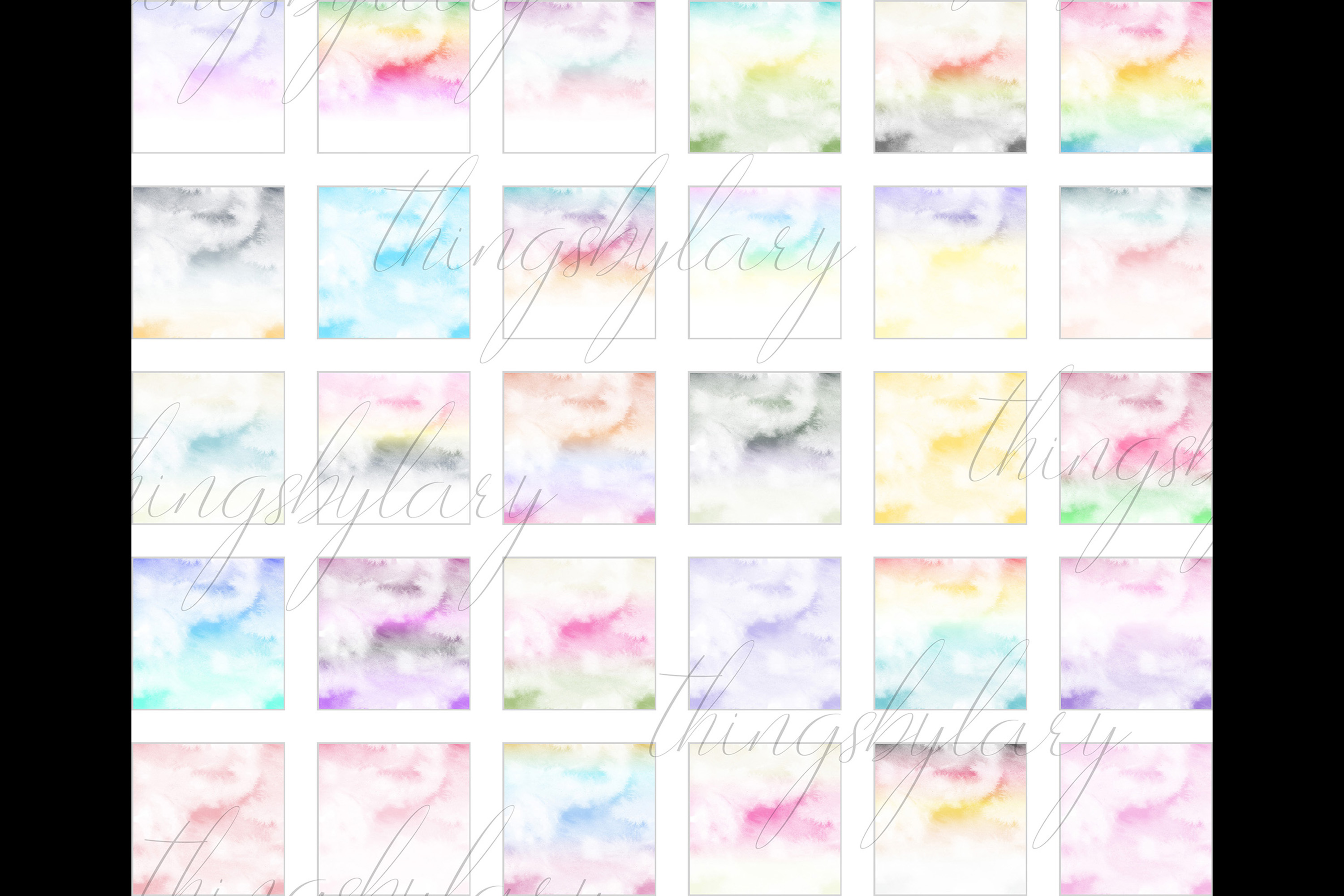 30 Watercolor Fairy Tale Cloudy Sky Baby Shower Paper Images example image 10