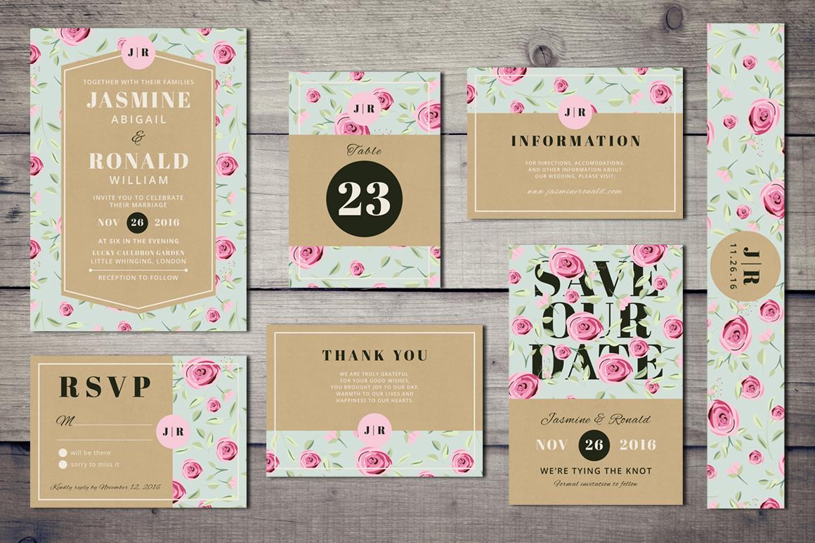 Vintage Wedding Invitation Suite example image 1