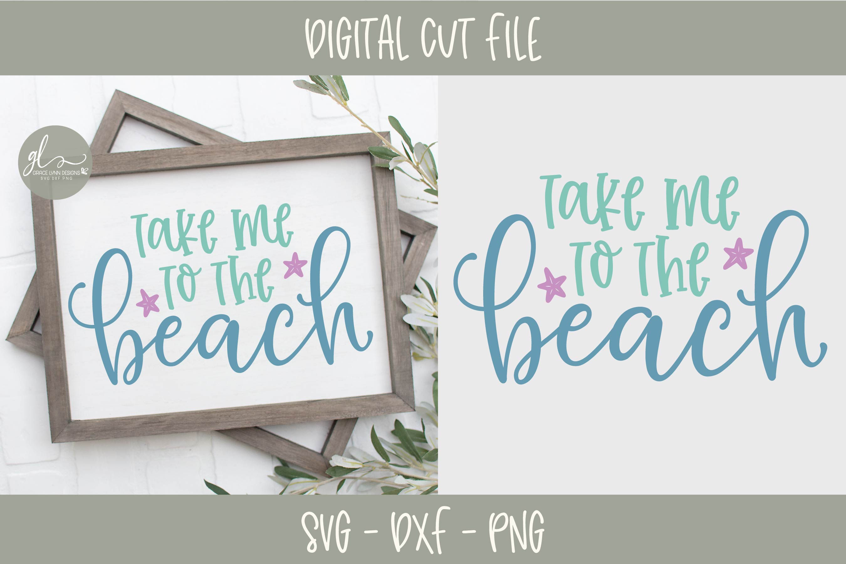 Take Me To The Beach - Summer SVG Cut File example image 1