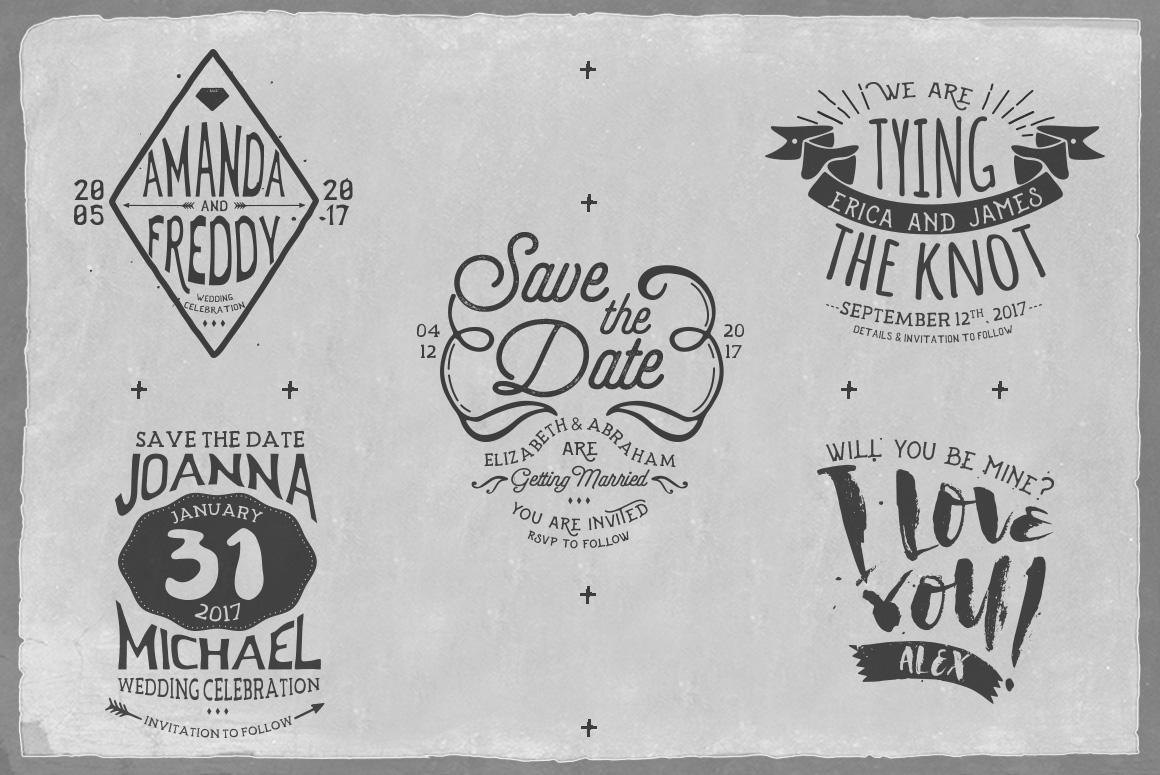 Rustic Wedding Badges & Sticker example image 8