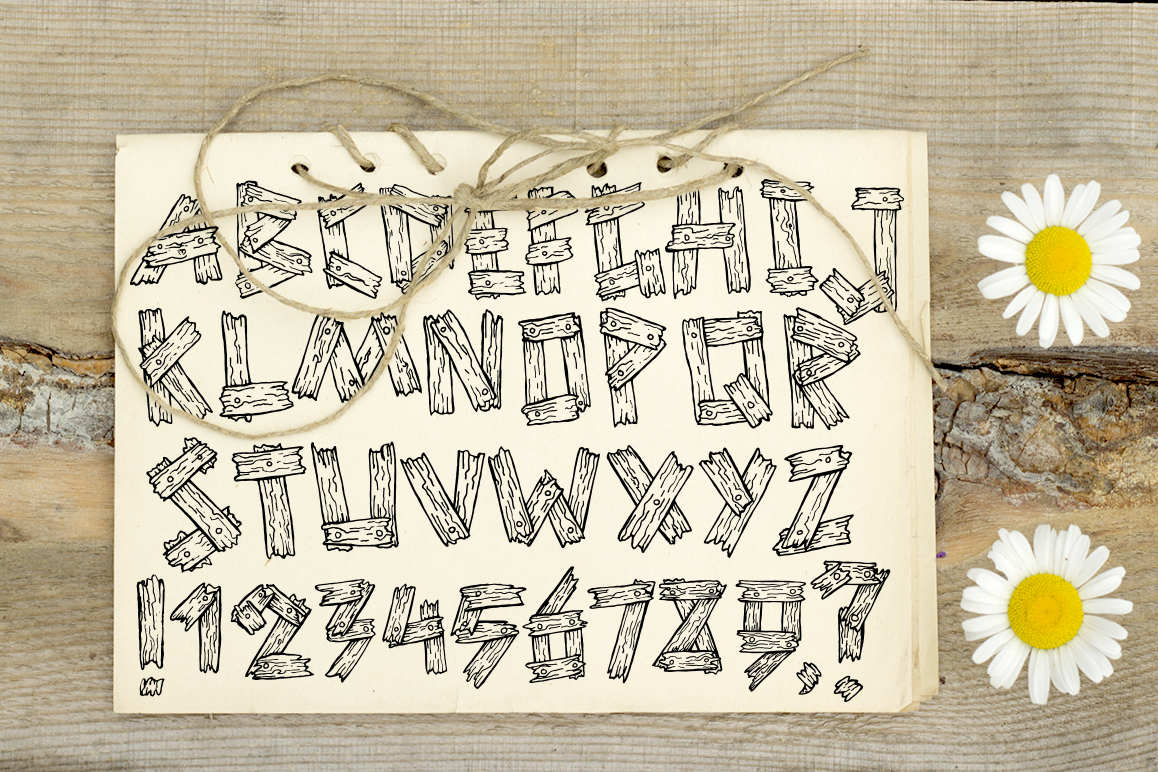 Summer old wooden font example image 2