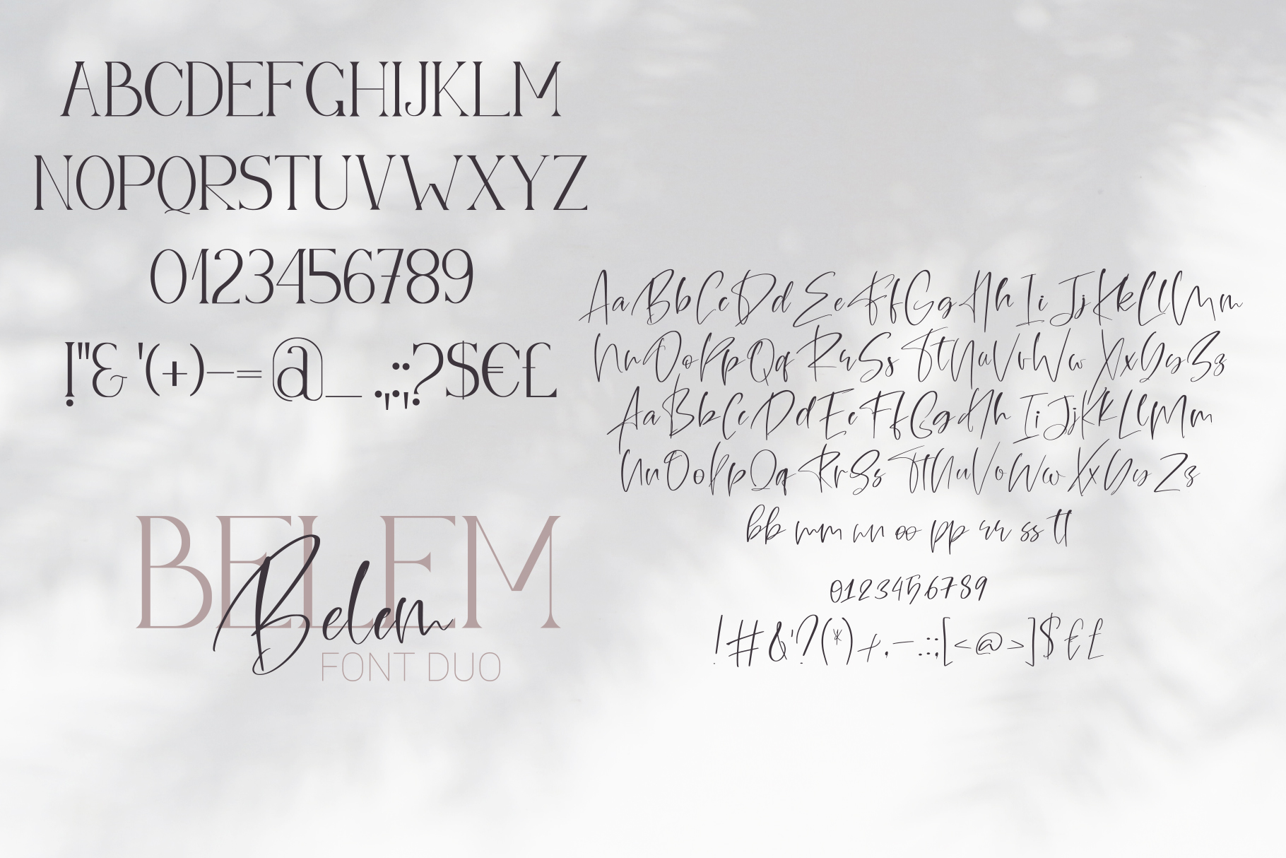Belem Font Duo example image 10
