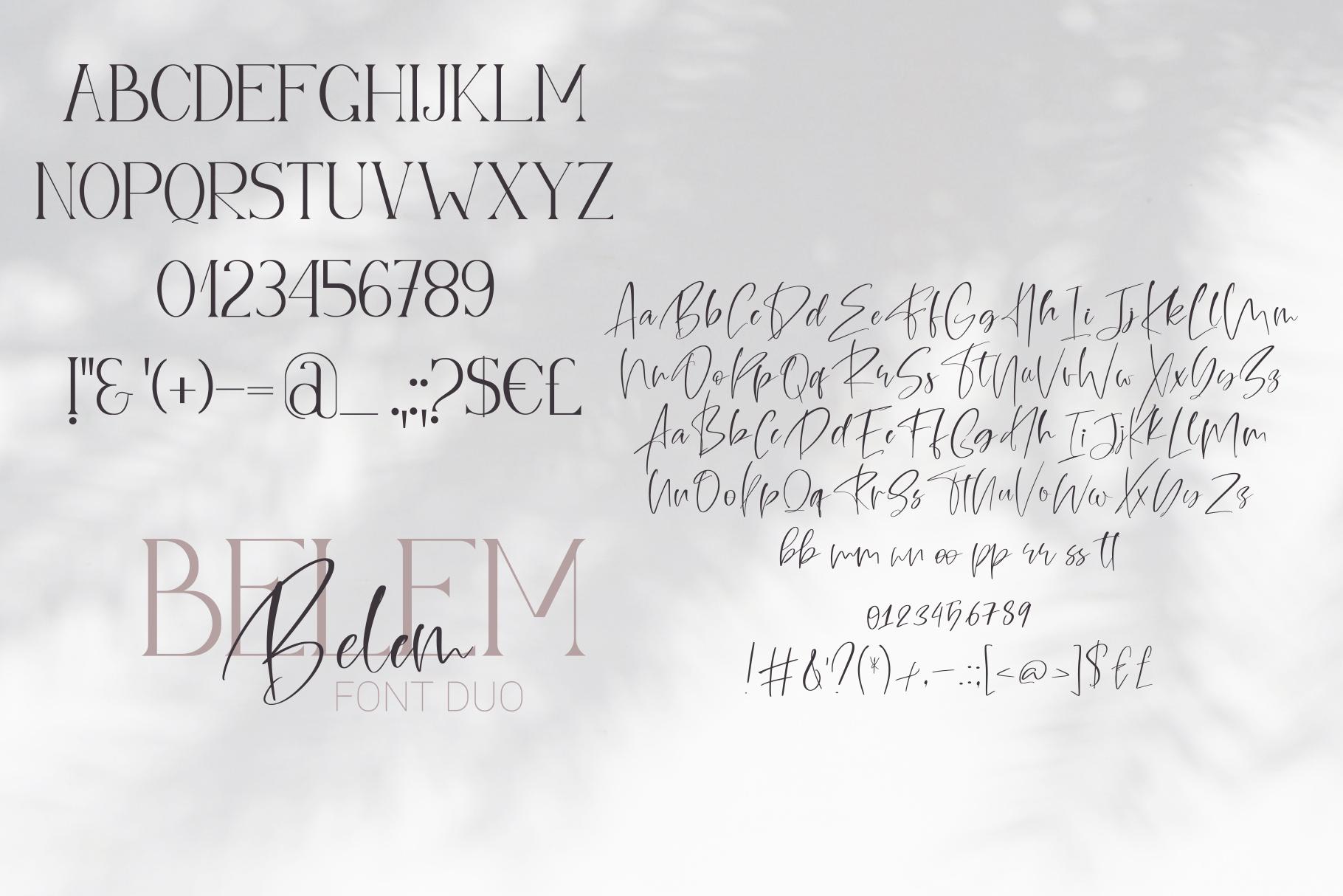 Belem Font Duo example image 10