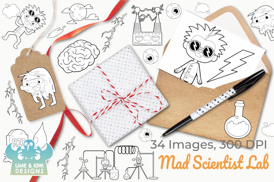 Mad Scientist Lab Digital Stamps example image 4