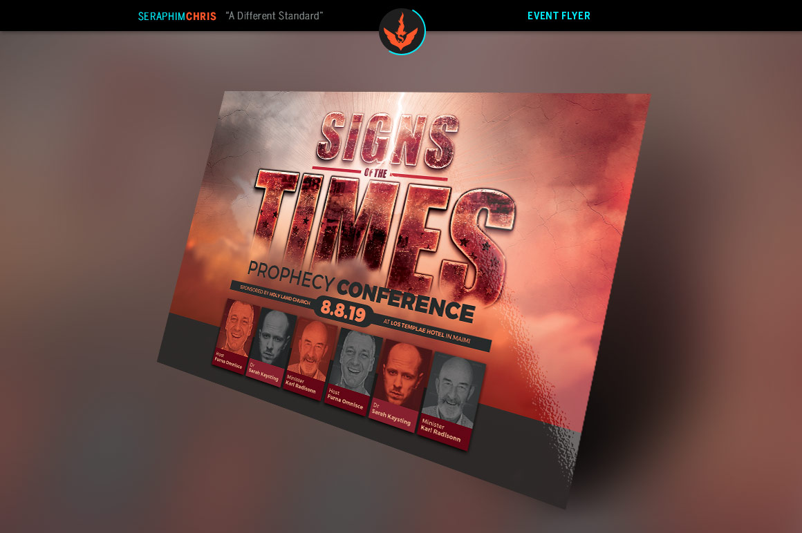 Signs of the Times Prophecy Conference Flyer Template example image 3