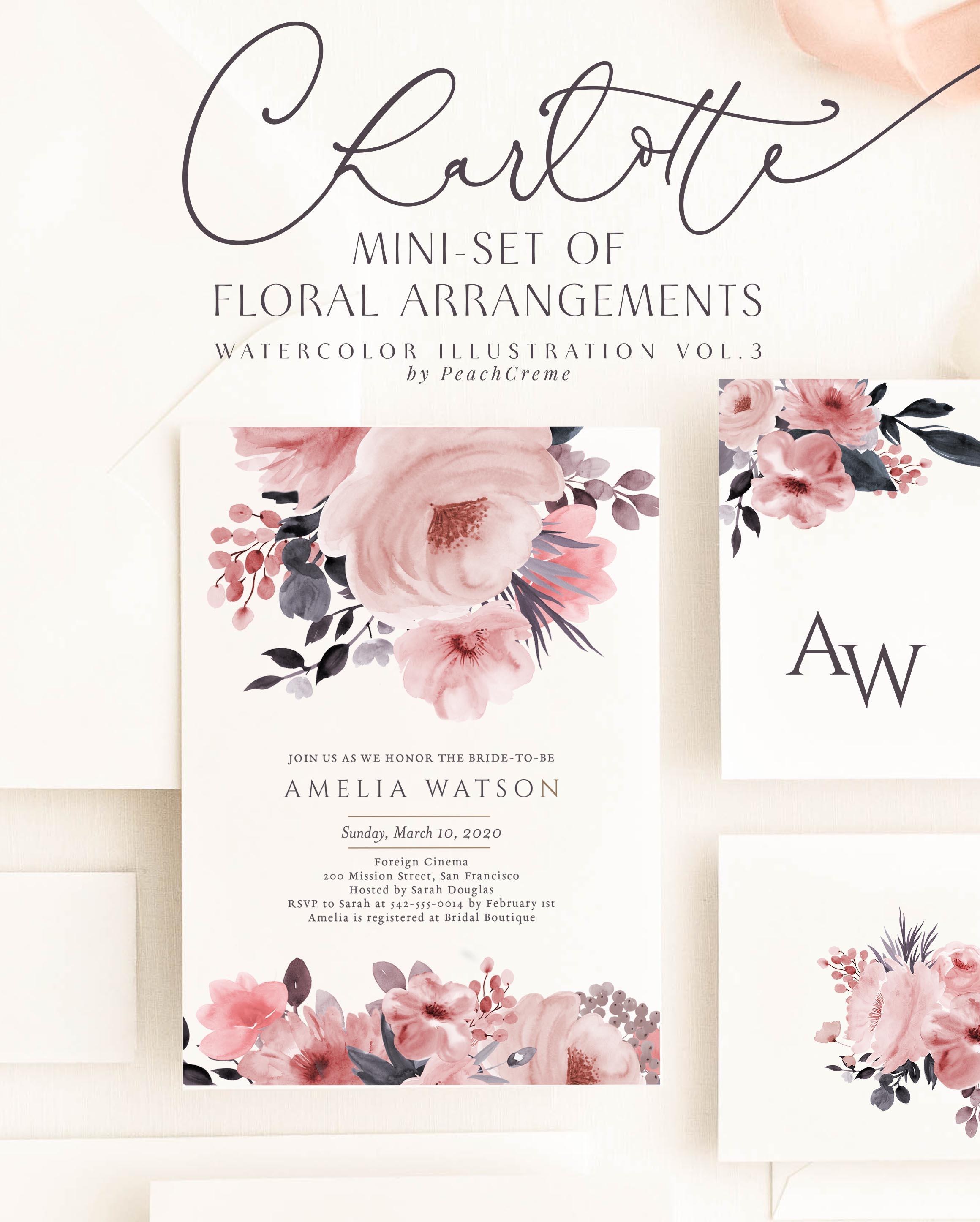 Charlotte // Mini Set of Floral Arrangements example image 2