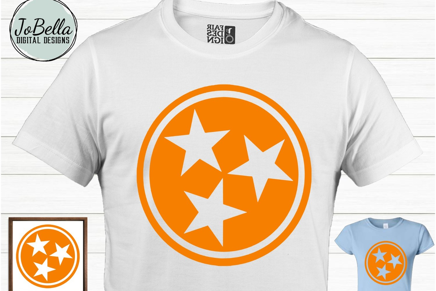 Tennessee Tri-Star SVG and Printable Solid and Grunge Bundle example image 2