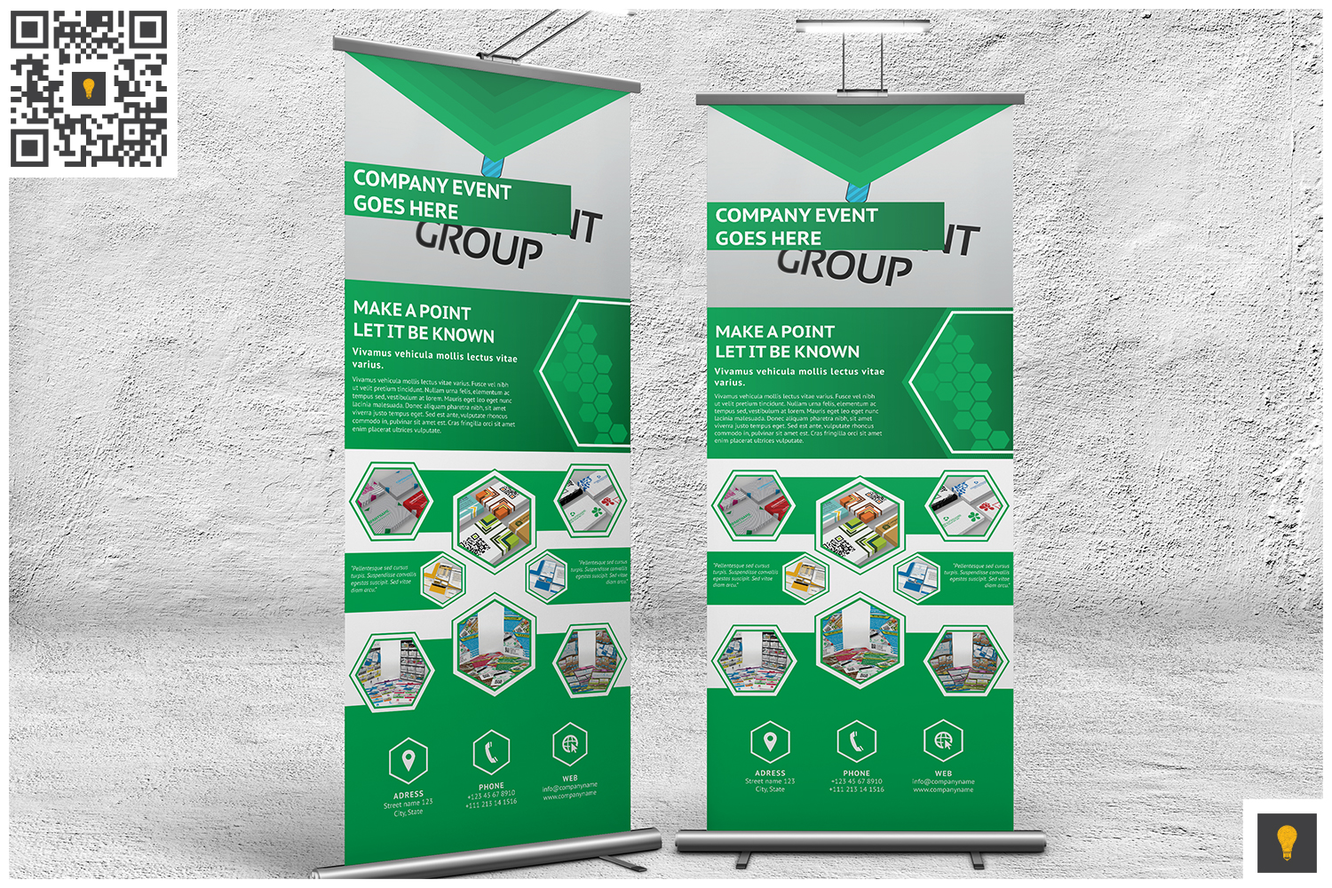 Professional Corporate Hive Roll-Up Banner example image 4
