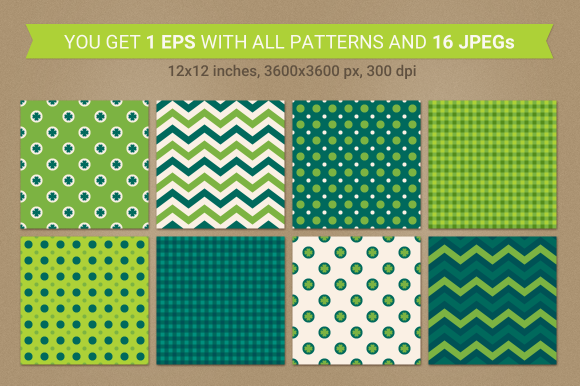 St. Patrick's Day Seamless Patterns - Set 2 example image 2