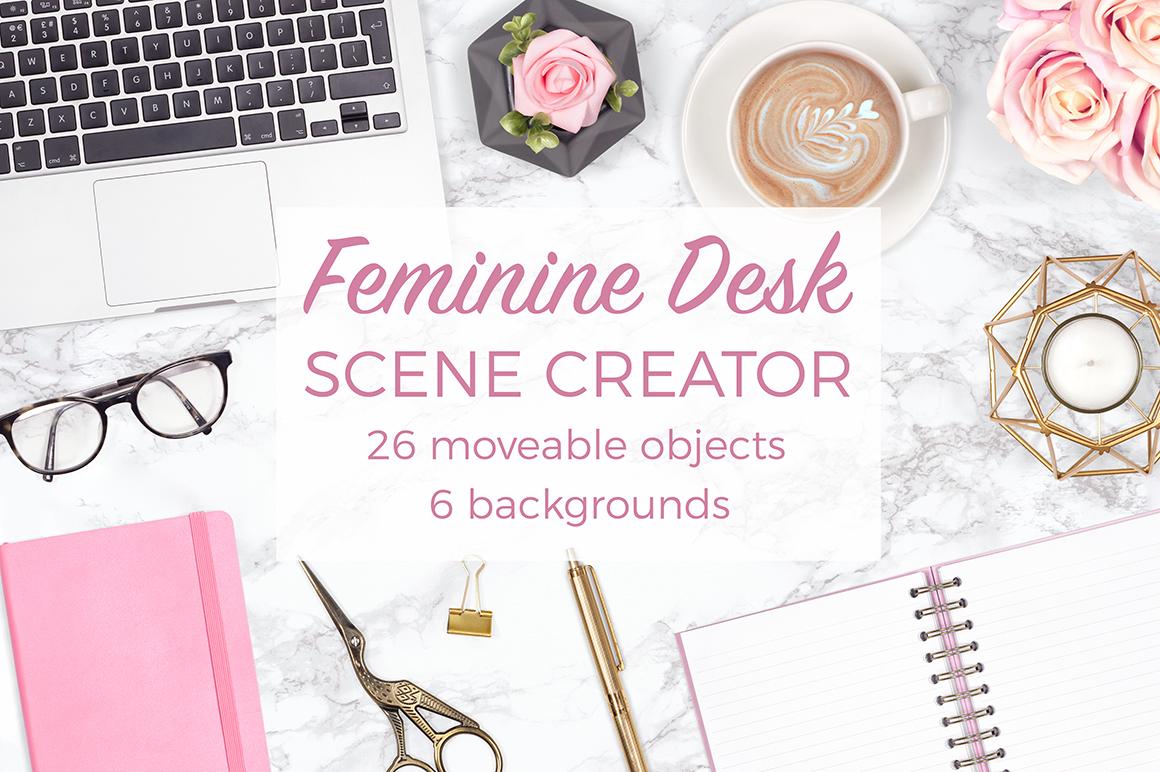 Feminine Desk Scene Creator example image 1