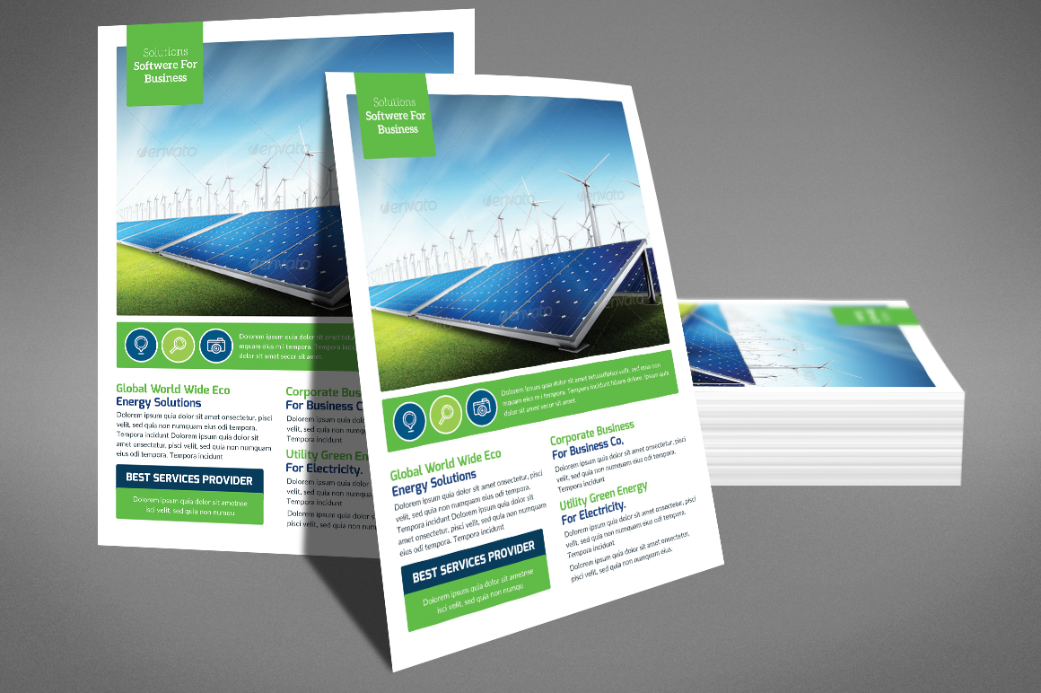 Green Energy Flyer Psd example image 3