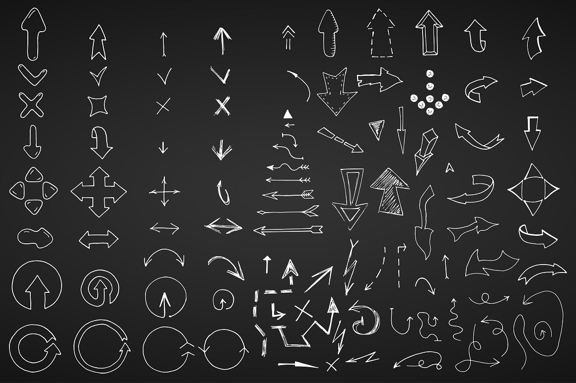 Doodle arrows collection. Hand drawn example image 6