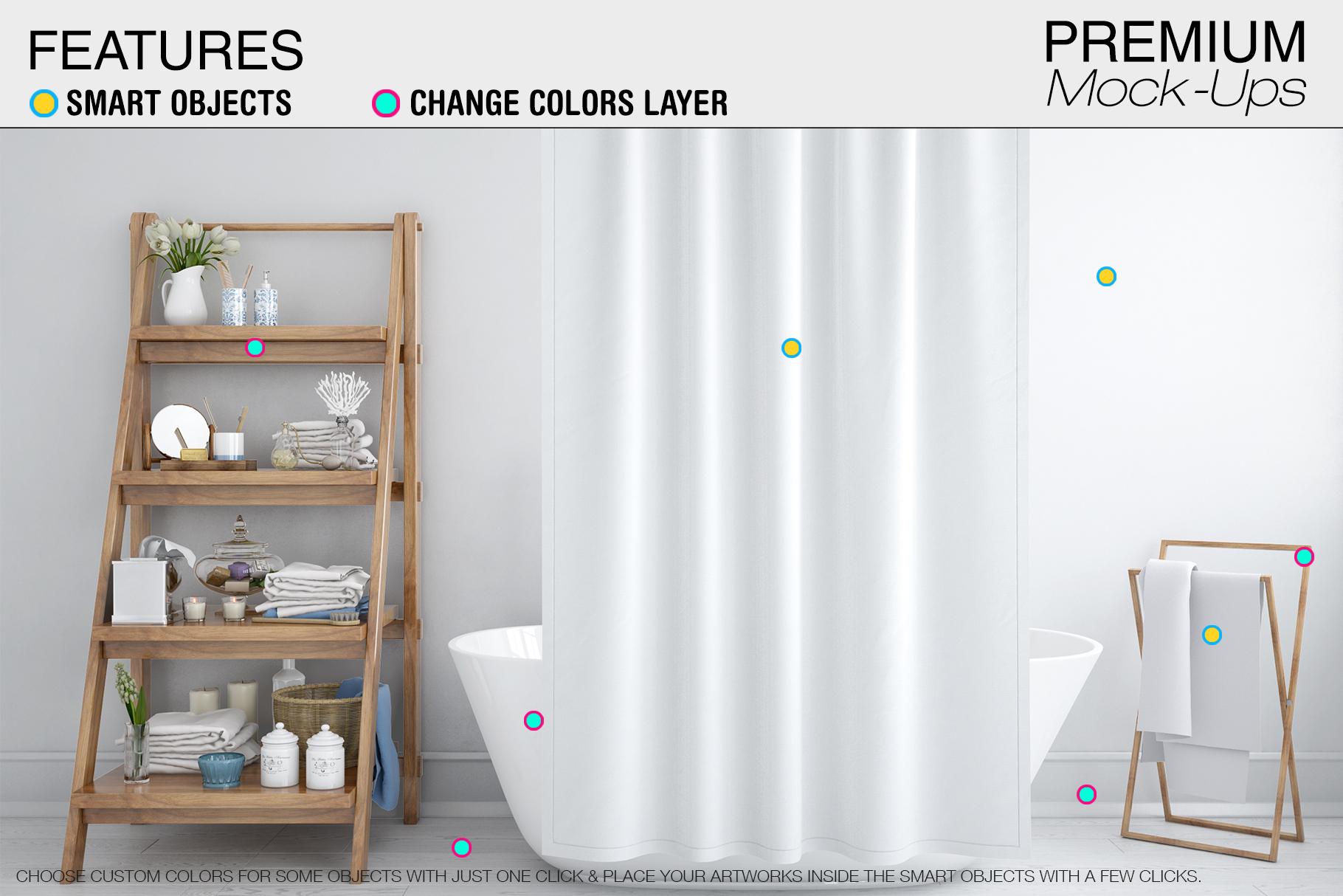 Bath Curtain Mockups example image 12