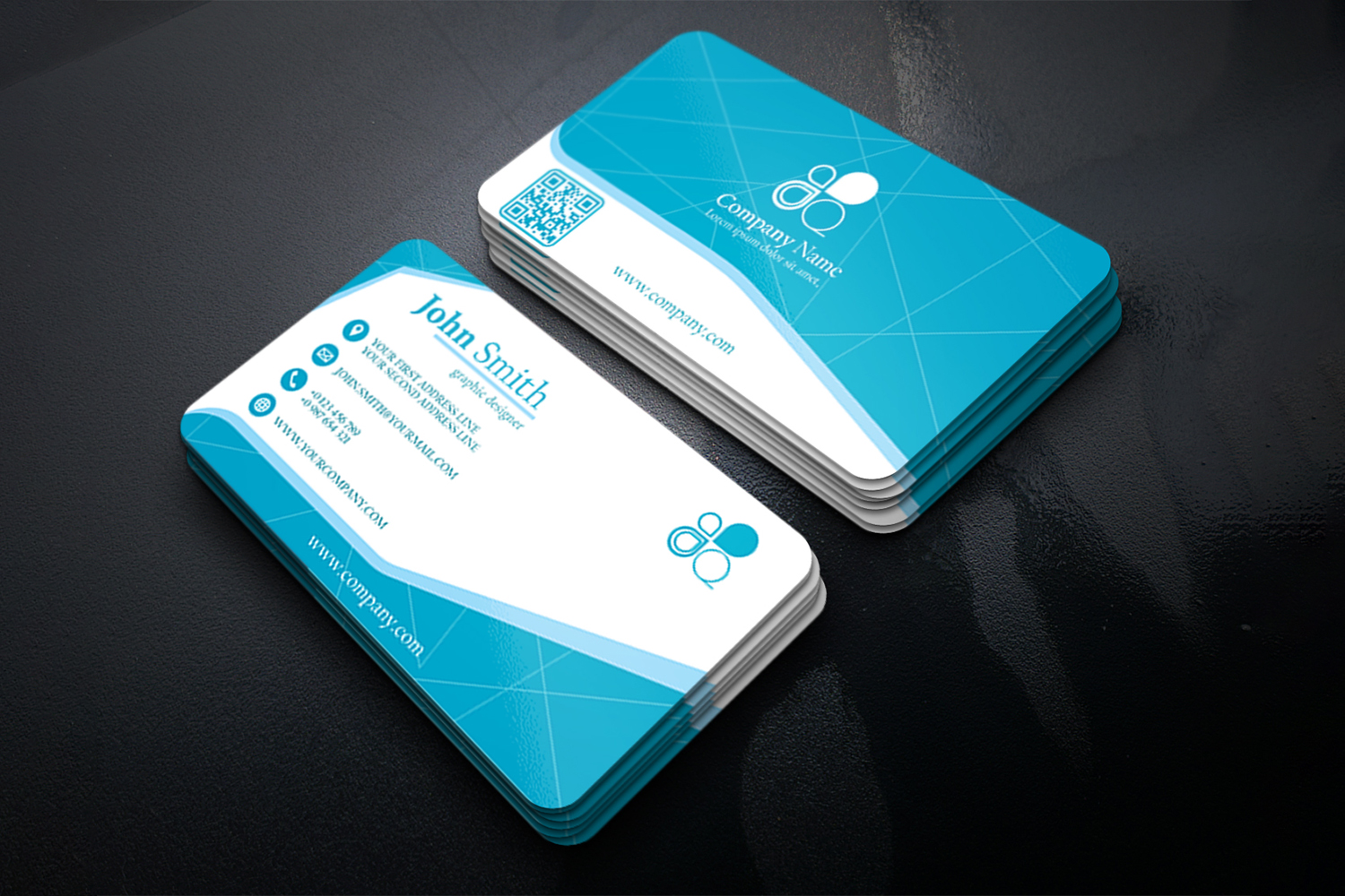 Business Card Simple Modern Design in 3 different Colors example image 5