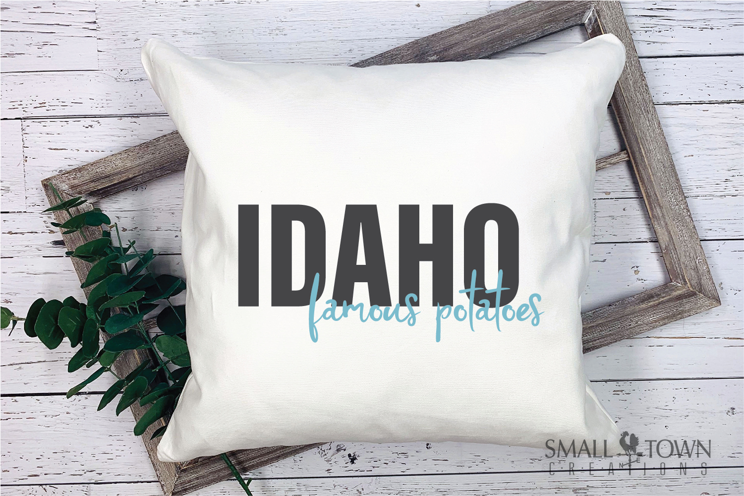 Idaho, Famous Potatoes- slogan, Logo, PRINT, CUT & DESIGN example image 9