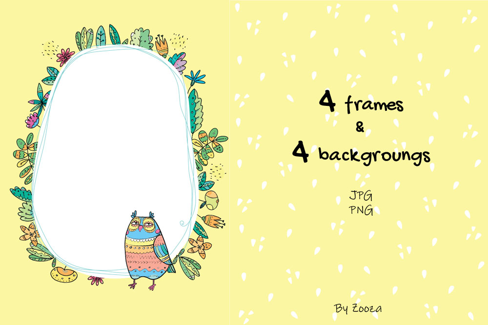Floral Owls - 55 objects example image 9