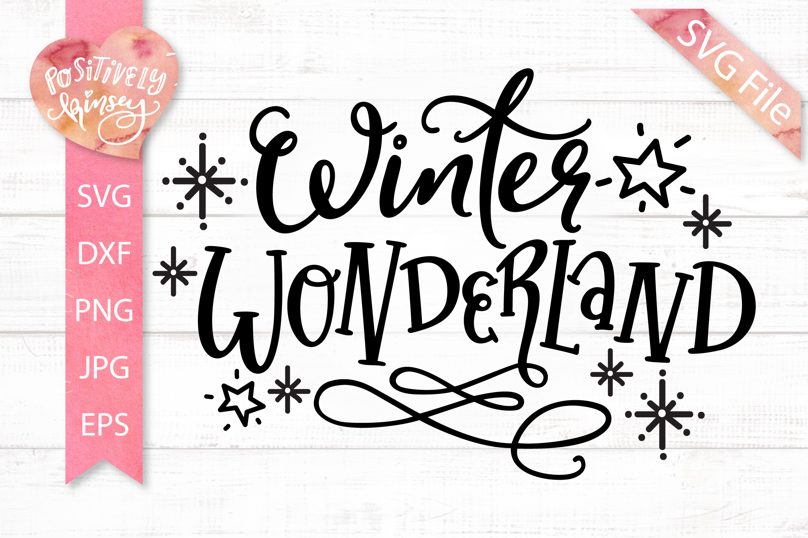 Winter Wonderland SVG DXF PNG EPS Christmas Quote SVG File example image 1