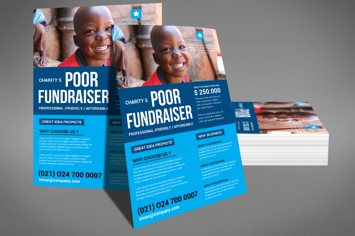 Charity Fundraisers Flyer example image 4