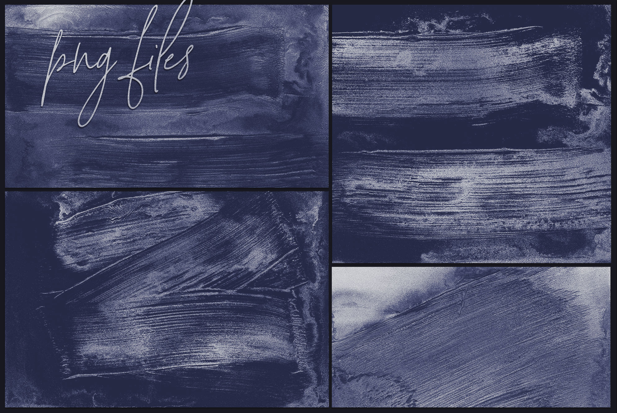 Navy Oil Paint - Handmade Abstract Backgrounds example image 4