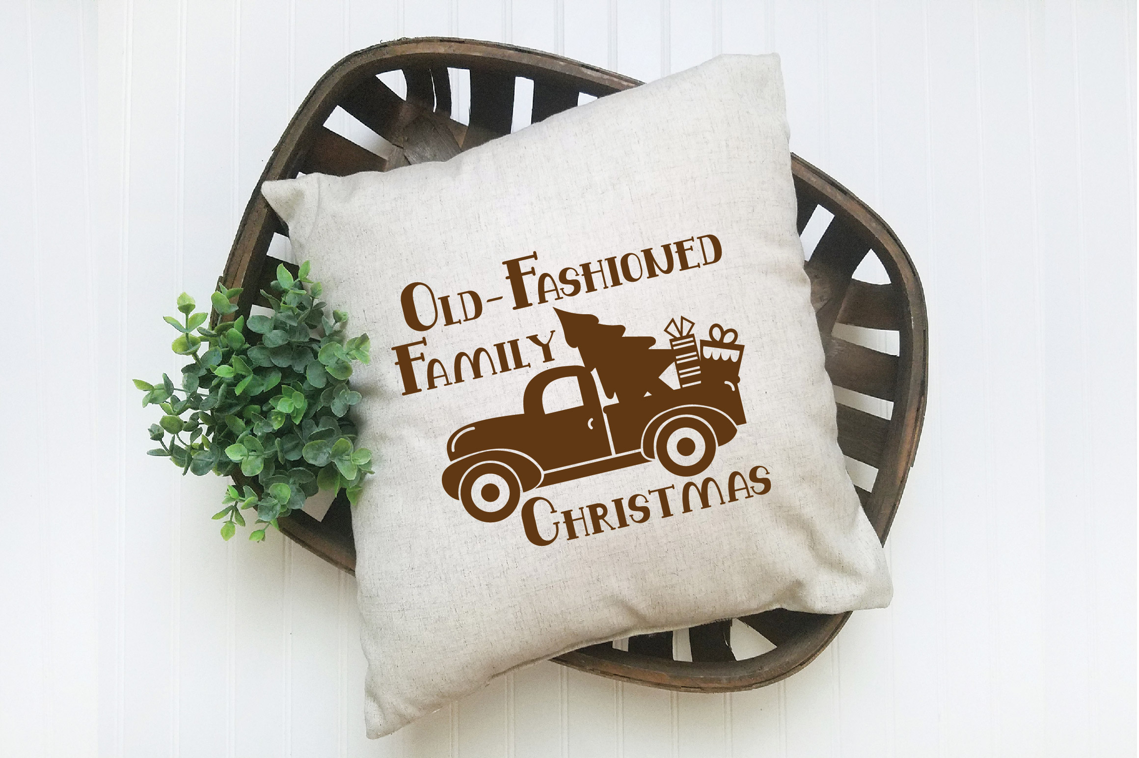 Farmhouse Christmas SVG Bundle with 20 SVG Cut Files DXF EPS example image 8