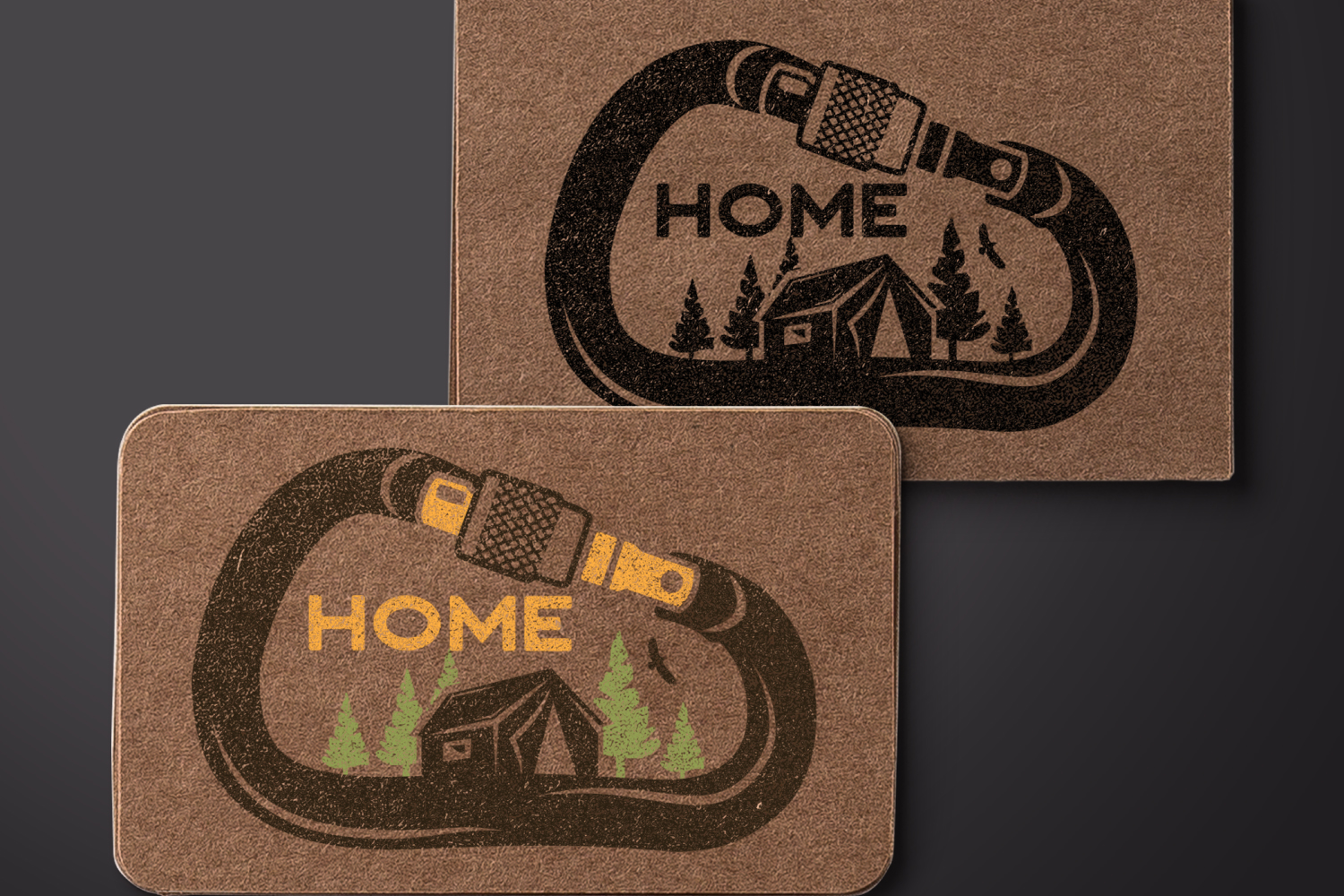 Vintage Travel Logo, Retro Climbing Camp Badge - Nature Home example image 4