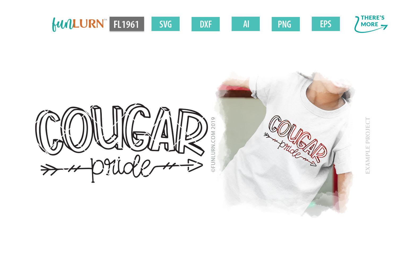 Cougar Pride Team SVG Cut File example image 1