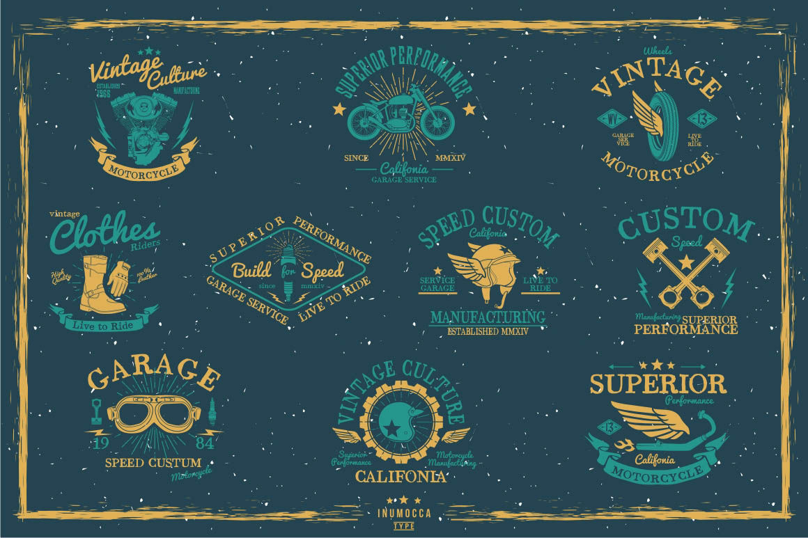 BIG BUNDLE Vintage Badges example image 26
